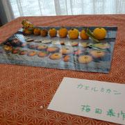 梅田 泰作(高1)「カエルミカン」オブジェ.写真