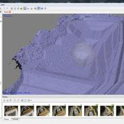 写真解析画面(3次元ポリゴン出力結果)