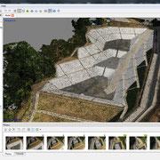 写真解析画面(3次元点群出力結果)