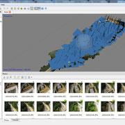 写真解析画面(撮影位置解析結果)