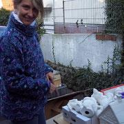 Tanja bei einem ihrer Keramikmärkte