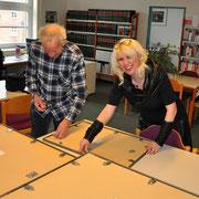 Andrea Weinke-Lau und Manfred Backhaus vom Verein Gross Laasch Flexibel aktiv