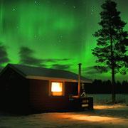 Nordlichter über der Huskyfarm