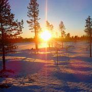 Tolle Sonnenuntergänge im Dezember...