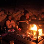 Leckeres Rentiergulasch in unserer Grillhütte
