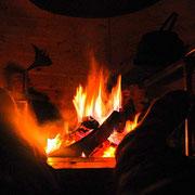 gemütliches Beisammensein am Feuer