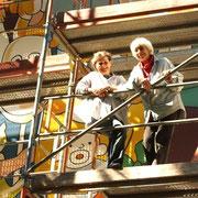 Maria Sibylla Ponizil links und Johanna Goerke Cassirer