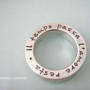 Massiver, schwerer Statement-Ring aus 925er Silber mit Beschriftung nach Wunsch!