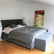 Wohnbeispiel Schlafzimmer eines privaten Messeapartments zur CeBIT 2018 über 4yourfairs