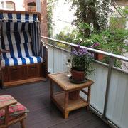 Anders als ein Hotel und mehr als nur ein Messezimmer - Balkon eines privaten Messeapartments über 4yourfairs