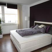 Wohnbeispiel Schlafzimmer eines Messeapartments zur Domotex über 4yourfairs