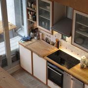 Wohnbeispiel Küche eines Messehauses zur Domotex über 4yourfairs