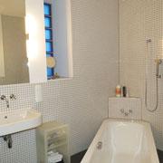Wohnbeispiel Badezimmer eines Messehauses zur Domotex über 4yourfairs