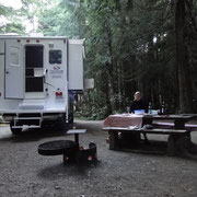 unsere Campsite im Green Point Campground