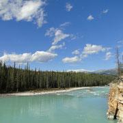 Athabasca River nach den Falls