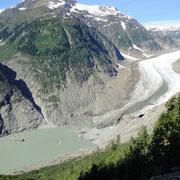 Die Zunge des Salmon Glaciers