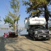 die herrliche Campsite am Osoyoos Lake