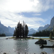 Spirit Island im Maligne Lake