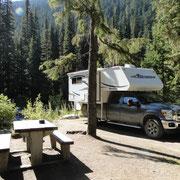 unsere Campsite im Illecillevaet Campground