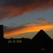 Luxor bei Sonnenuntergang