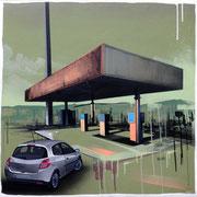 "50x50cm. Acrylic and spray paint on canvas. ""Jeunesse éternelle"" 2015"