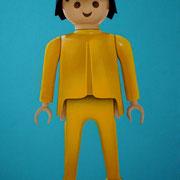 "75x50 cm. Acrylic on canvas. ""Playmobil"" 2015. Sold"