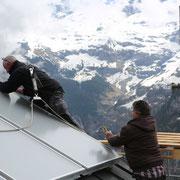 Das Team von bern.solar im Einsatz