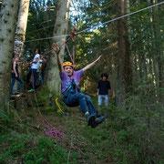 Das Beste kommt bekanntlich zum Schluss. In diesem Sinne bot die Seilbahn eine Menge Spass am letzten Lagertag!