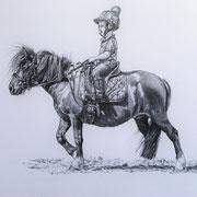 Future Jockey, Bleistift (Auftragsarbeit)