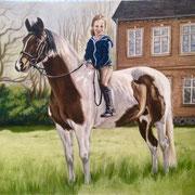 Mädchen mit Pony, Pastell (Auftragsarbeit)