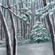 2016年1月 雪の松林