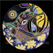 Poisson de Lune - diam.0.20 - Posca et Ors - 2010 - Toute reproduction interdite