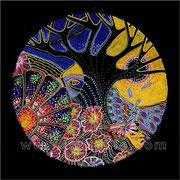 Oiseau solaire - diam.0.20 - Posca et Ors - 2010 - Toute reproduction interdite