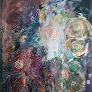 Univers 3 - 50*70 - Acryliques - 2007 - Toute reproduction interdite