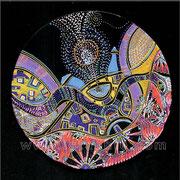 Serpent cosmique - diam.0.20 - Posca et Ors - 2010 - Toute reproduction interdite