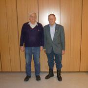 Ludwig Muranko und Heinz Schümann bei 30 Jahre im Verein