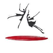 Linoldruck - Ich lobe den Tanz - Motiv-Größe von ca: 36x35 cm (HxB) - Blatt:  70 x 50 cm