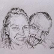 """Julia+Marcus"", Bleistift auf Papier, Dina 5, 2011"