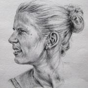 """""""Meike"""", Bleistift auf Papier, Dina 4, 2010"""