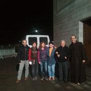 Giancarlo e Susanna fratelli di sr. Giacinta, Anna, Laura e don Franco il parroco di S. Giovanni.