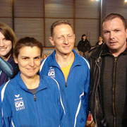 Justine, Christine, Hervé et Hugues