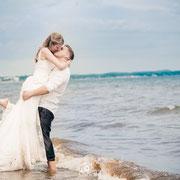 Afterwedding Hochzeitsshooting am Timmendorfer Strand