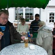 Hermann schmeckt's auch bei Regen