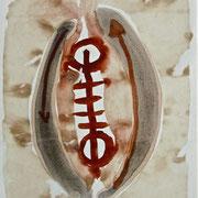 """""""Fühlen+Denken"""", 1991, Kohle, Tusche auf Achatpapier, zu:""""Fühlen und Denken"""""""