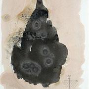 """""""Im Dunkeln ist das Licht"""", 1991, Tusche auf Achatpapier, zu:""""Fühlen und Denken"""""""