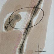 Fühlen + Denken, 1991, Kohle, Tusche auf Achatpapier