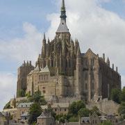 Le mont saint michel : sommet du rôcher : la merveille