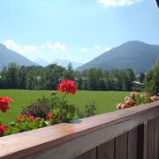Blick vom Balkon auf den Rauschberg