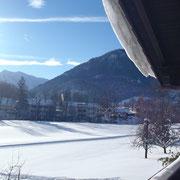 Ausblick vom Balkon der Ferienwohnung 1
