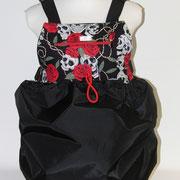 3 Wintertasche außen Nylon sw/ innen Totenkopf Baumwolle